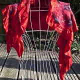 Alison Nicholson - Red nuno felt wrap