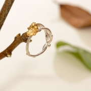 Razale Scott Olivier Gold Ivy & Entwined Ring