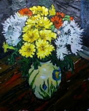 Richard Meyer, Flowers in a Paul Jackson vase,