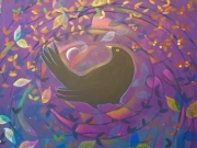 Sunset Blackbird by Sophie Cobb