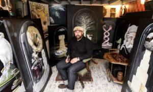 Mike Stocks in his Studio