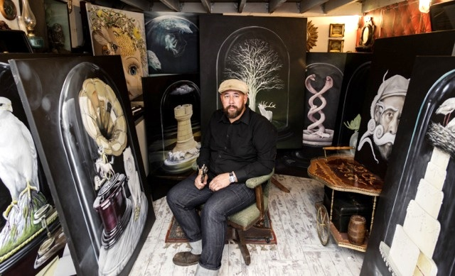 Mike Stocks in his Studio