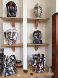 Michael Storrs, ceramics display